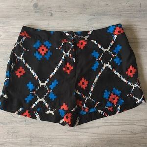 Silky Ikat Print Shorts - Urban Outfitters